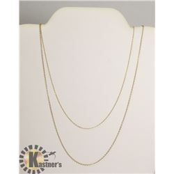"""#119-STERLING SILVER.925 NECKLACE 2PCS/ 18"""""""