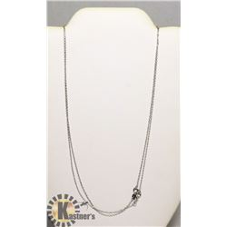 """#143-STERLING SILVER.925 NECKLACE 2 PCS/ 18"""""""