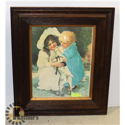 """ANTIQUE PICTURE FROM GERMANY 30""""X26"""""""