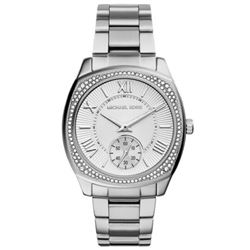 NEW MICHAEL KORS WHITE DIAL CRYSTAL BEZEL MSRP$352