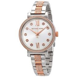 NEW MICHAEL KORS SOFIE SILVER DIAL 2-TONE MSRP$379