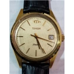 NEW DESIGNER TIMON AUTOMATIC GOLD TONE BEZEL WATCH