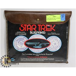 STAR TREK SET OF 12 AUTHENTIC BLUEPRINTS OF THE