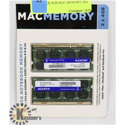 TWIN PACK 8GB MAC MEMORY 2X4 GB.