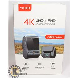 VIOFO 4K UHD + FHD CHANNELS DASHCAM UNUSED
