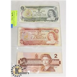SHEET OF COLLECTIBLE CANADIAN BILLS - 1X -