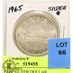 1965 CDN SILVER DOLLAR