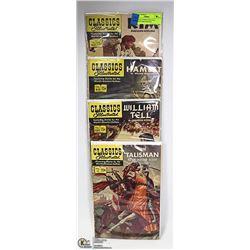 4 CLASSIC COMICS/ WILLIAM TELL/RUDYARD KIPLING