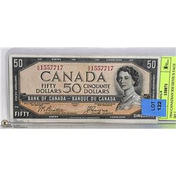 1954 CANADIAN $50 DEVIL'S FACE BILL