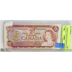 1974 CANADIAN $2 REPLACEMENT BILL