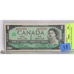 CANADIAN 1967 ONE DOLAR BILL