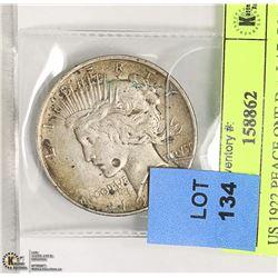 US 1922 PEACE ONE DOLLAR COIN