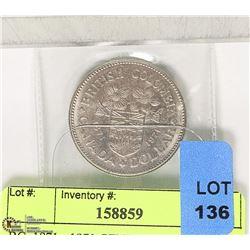 BC  1871 - 1971 CENTENNIAL $1 COIN