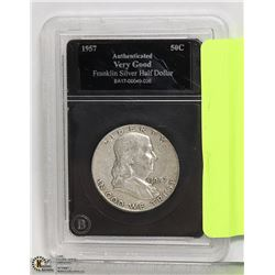 ENCASED + GRADED FRANKLIN SILVER 1/2 DOLLAR COIN