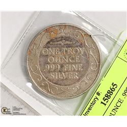 ONE TROY OUNCE .999 SILVER ROUND