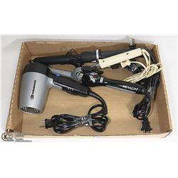 BLOW DRYERS/CURLING IRONS- BOX LOT