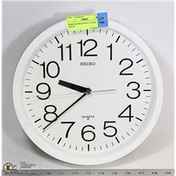 SEIKO QUARTZ WALL CLOCK- WHITE