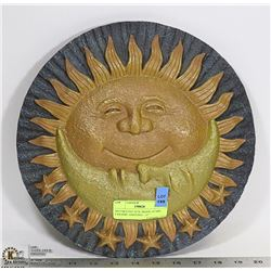 DECORATIVE SUN, MOON, STARS CERAMIC HANGING-  12""