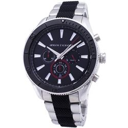 NEW ARMANI EXCHANGE BLACK 3-CHRONO DIAL MSRP $310