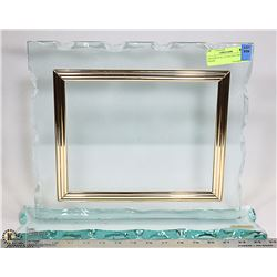ORNAMENTAL GLASS DOCUMENT FRAME