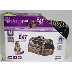 NEW PERFECTLY PET CAT TOTE FOR MEDIUM SIZED CATS