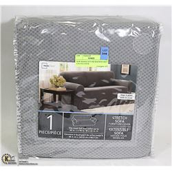 NEW MAINSTAYS MICROFIBER GREY COUCH COVER