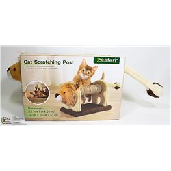 NEW ZOOFARI CAT SCRATCHING POST W/ LION HEAD &
