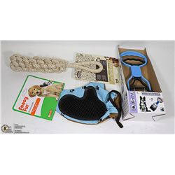 LOT OF ALL NEW DOG TOYS & ACCESSORIES