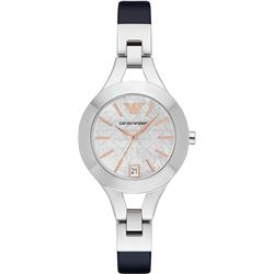 NEW EMPORIO ARMANI M-OF-PEARL 35MM DIAL MSRP $315