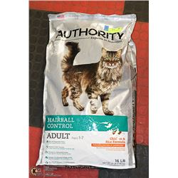 AUTHORITY CAT FOOD CHICKEN + RICE 16LBS
