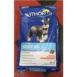 AUTHORITY ADULT DOG FOOD CHICKEN + RICE 30 LBS