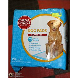 GRrEAT CHOICe 150 COUNT EXTRA LARGE DOG PADS