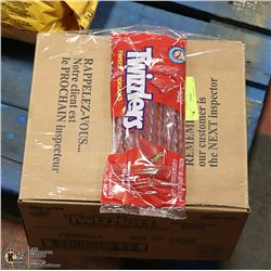 CASE WITH 24 250G BAGS OF TWIZZLER TWISTS
