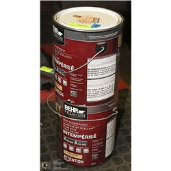 2 GAL OF BEHR WOOD STAIN AND SEALER
