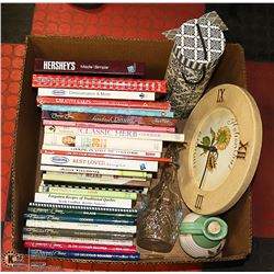 BOX OF COOKBOOKS INCLUDING COMPANY'S