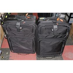 AMERICAN TOURISTER LUGGAGE X 2 BLACK IN COLOUR