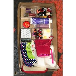 FLAT WITH MAKEUP BAGS, NEW LASHES, NAIL