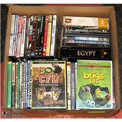 BOX FULL OF DVD MOVIES INCL. NEW CFL