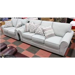 NEW FABRIC SOFA WITH LOVE SEAT AND ACCENT
