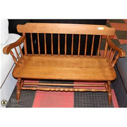 SOLID MAPLE BENCH. FURNITURE