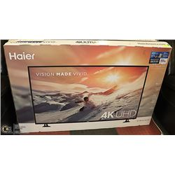 "HAIER 55"" 4K ULTRA HD TELIVISION IN ORIGINAL BOX."