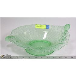 "GORGEOUS GREEN DISH 11""WIDE"
