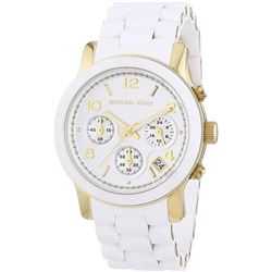 NEW MICHAEL KORS WHITE DIAL/BAND 40MM MSRP $375