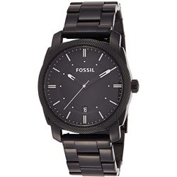 NEW FOSSIL PURE BLACK ST STEEL 42MM WATCH MSRP$209