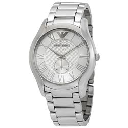 NEW ARMANI SILVER DIAL ST. STEEL CHRONO MSRP $345