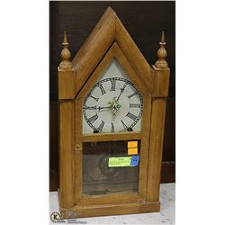 1906 NEW YORK MANTLE CLOCK W/KEY WORKING
