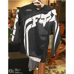 NEW FOX YOUTH BLACK/ WHITE RIDING JERSEY
