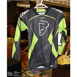 NEW THOR YOUTH BLACK/ GREEN RIDING JERSEY