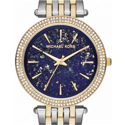 NEW MICHAEL KORS 2-TONE BLUE DIAL MSRP $325 39MM