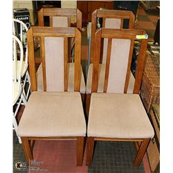 4 STURDY SOLID OAK CHAIRS